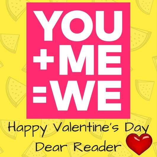 Valentine messages example - The card I created on Canva.com