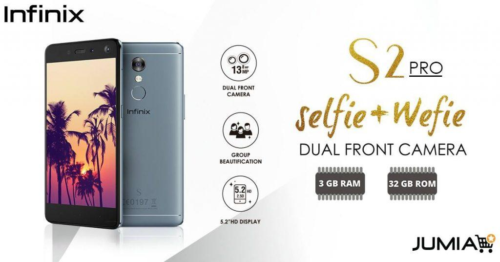 The Infinix s2 pro is ecpected to go on sale on Jumia soon