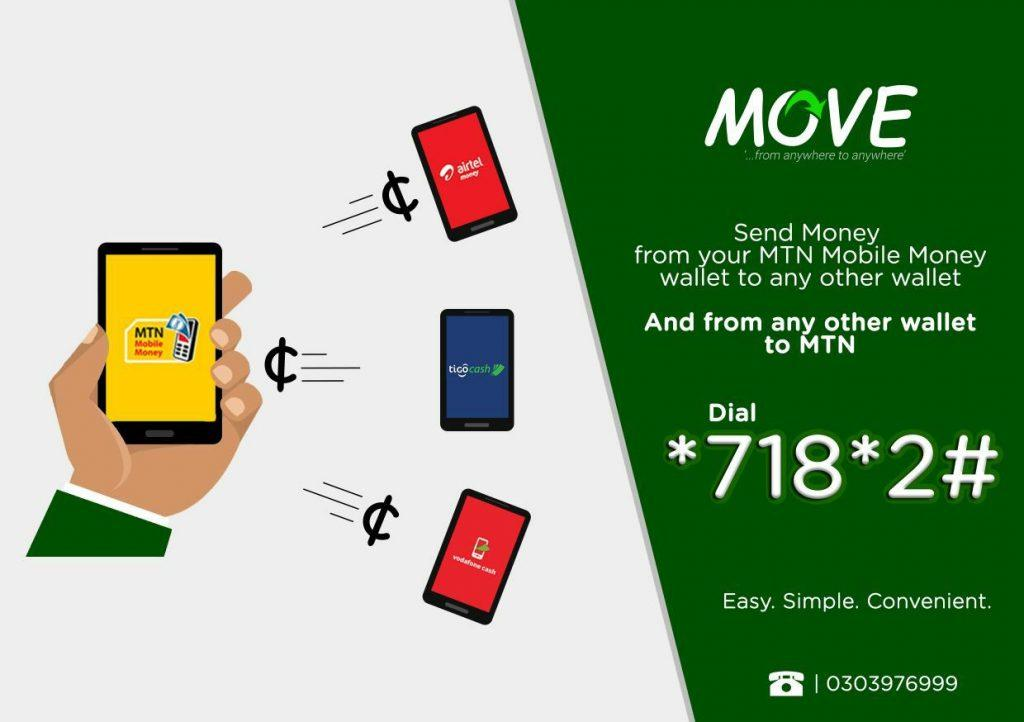 To use MOVE, dial *718*2#