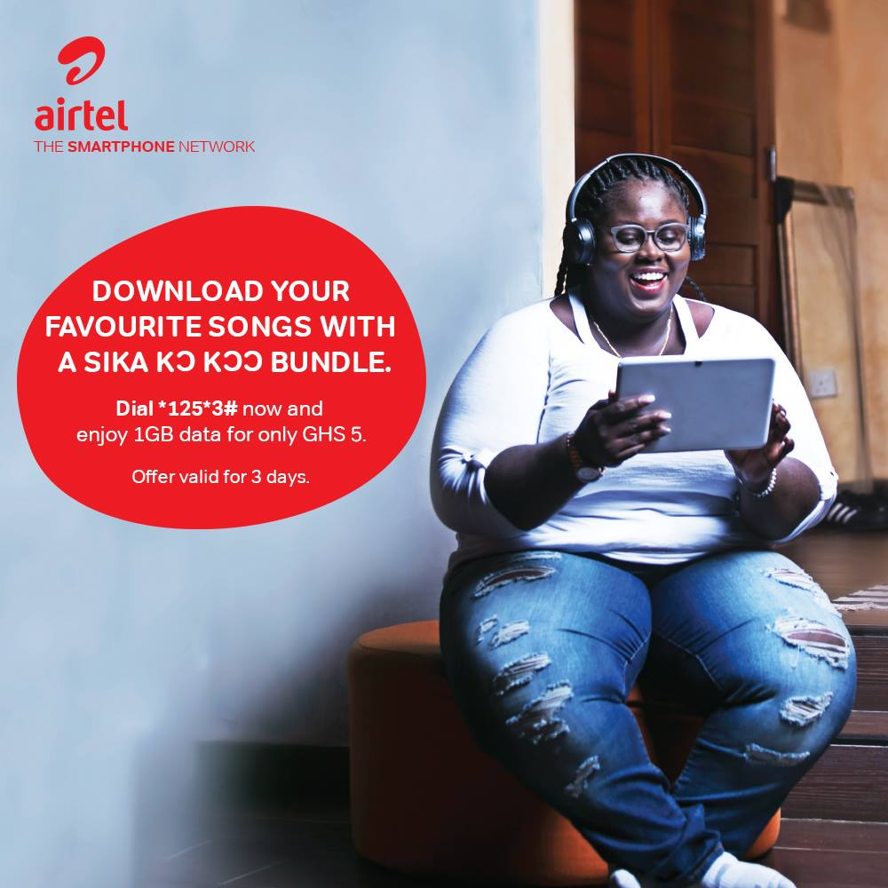 Airtel Sika Kokoo now allows you to enjoy 1GB of Data for just GHS 5