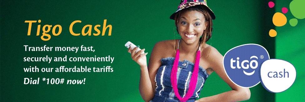 Tigo cash allows you to conveniently and securely send and receive your cash.