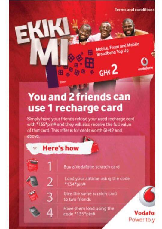 The Vodafone Ekikimi promo was launched by Vodafone Ghana on Tuesday, August 15, 2017