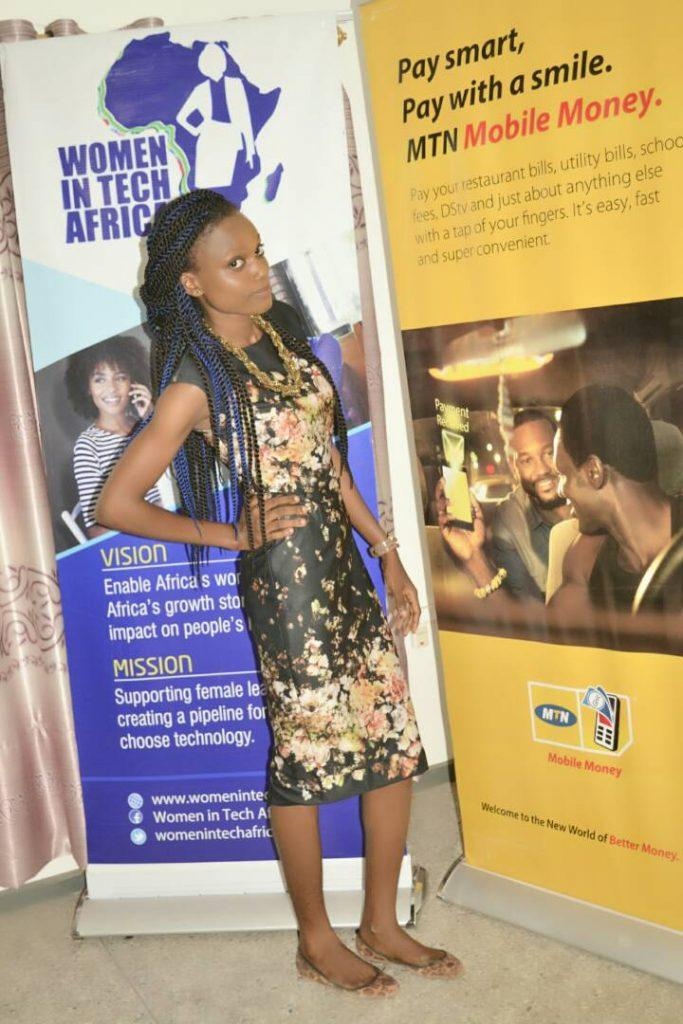 Shirley Manu acknowledged Women in Tech and MTN Ghana for the great opportunity which has helped her discover herself.