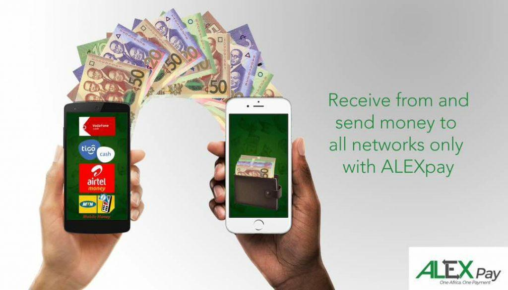 Receive and Send money via ALEXpay on all networks in Ghana.