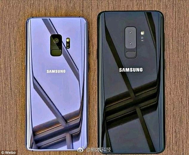 Leaked photo of the Samsung Galaxy S9 and the S9 plus.