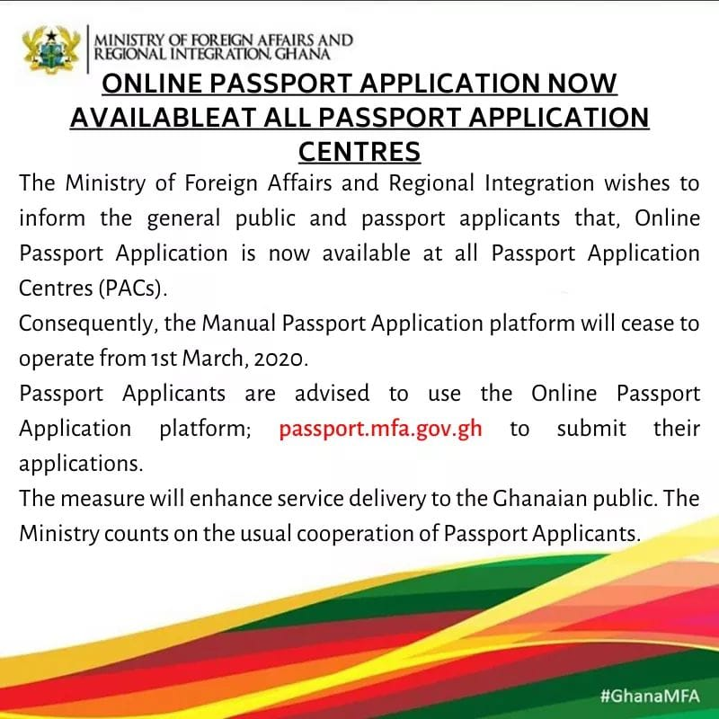 ghana online passport application now available at all passport application centres min