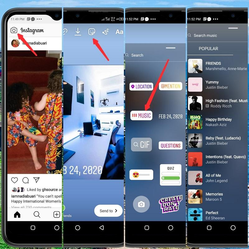 adding music to your instagram story step by step