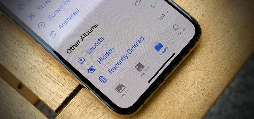 how to actually hide the hidden photos album on iphone