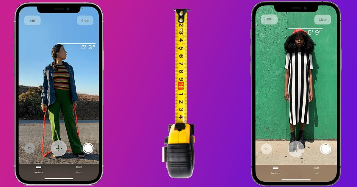 how to measure the height of someone on iphone 12 and 12 pro